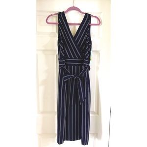 Navy Pinstripe Dress